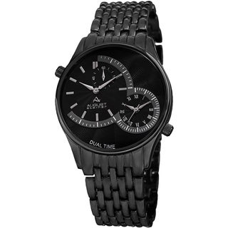 August Steiner Men's Swiss Quartz Dual Time Bracelet Watch