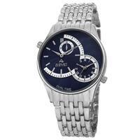 August Steiner Men's Swiss Quartz Dual Time Blue Bracelet Watch