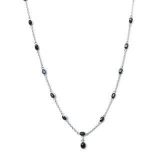 De Buman Sterling Silver Natural Ruby or Sapphire Necklace (2 options available)
