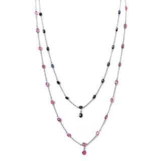 De Buman Sterling Silver Natural Ruby or Sapphire Necklace|https://ak1.ostkcdn.com/images/products/9600236/P16785480.jpg?impolicy=medium