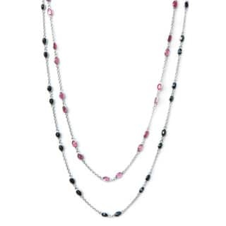 De Buman Sterling Silver Natural Ruby or Sapphire Necklace|https://ak1.ostkcdn.com/images/products/9600237/P16785481.jpg?impolicy=medium