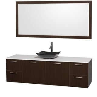 Wyndham collection amare espresso 30 inch single bathroom vanity with - Size Single Vanities Espresso Finish Over 70 Inches