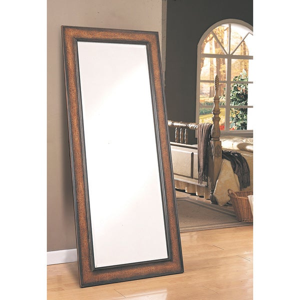Coaster Company Long Antique Framed Floor Mirror - Free Shipping ...