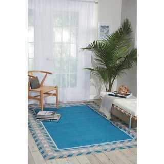 Waverly Sun N' Shade Full Of Zip Delft Area Rug by Nourison (10' x 13')