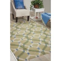 Waverly Sun N' Shade Full Of Zip Peacock Indoor/ Outdoor Area Rug by Nourison - 10' x 13'