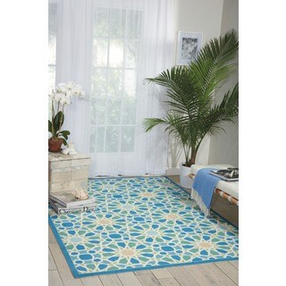 Waverly Sun N' Shade Starry Eyed Porcelain Area Rug by Nourison (5'3 x 7'5)