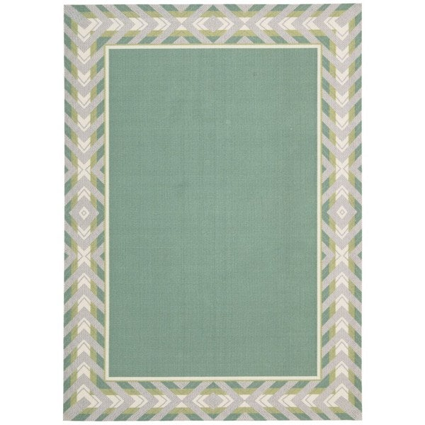 Shop Waverly Sun N' Shade Full Of Zip Peacock Area Rug By