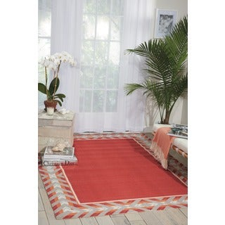 Waverly Sun N' Shade Full Of Zip Poppy Indoor/ Outdoor Area Rug by Nourison (7'9 x 10'10)