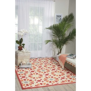 Waverly Sun N' Shade Starry Eyed Flamingo Area Rug by Nourison (5'3 x 7'5)
