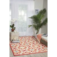 Waverly Sun N' Shade Starry Eyed Flamingo Indoor/ Outdoor Area Rug by Nourison (7'9 x 10'10)
