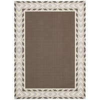 Waverly Sun N' Shade Full Of Zip Espresso Area Rug by Nourison (7'9 x 10'10) - 7'9 x 10'10