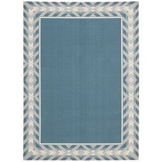 Waverly Sun N' Shade Full Of Zip Delft Area Rug by Nourison (5'3 x 7'5)