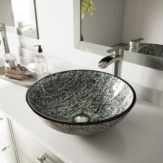 VIGO Titanium Glass Vessel Sink