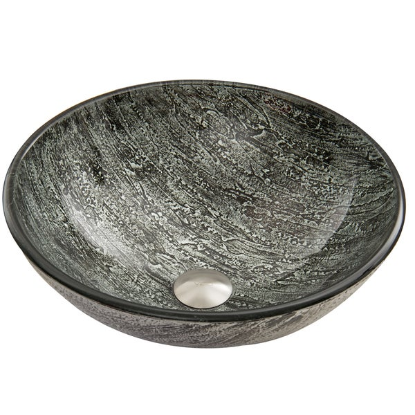 VIGO Titanium Glass Vessel Sink - Free Shipping Today - Overstock ...