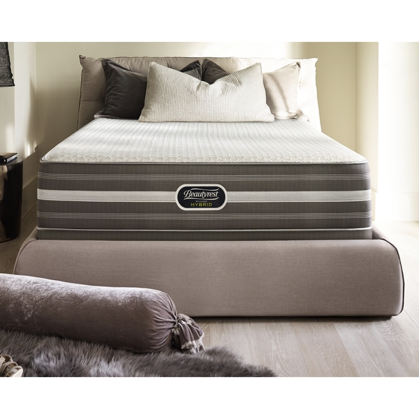 Simmons Beautyrest Hybrid Harley Way Plush King Size Mattress Set