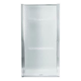 Framed Pivot Shower Door - Standard - 30.5 in x 64 in (Silver)