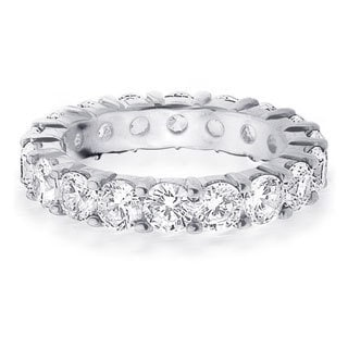 Amore Platinum 4ct TDW Diamond Wedding Band (G-H, SI1-SI2)