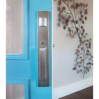 Sure-Loc Vail Front Door Handleset with Nickel Interior Lever