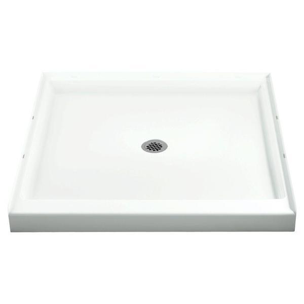 Ensemble White Single Threshold Shower Receptor - 36 x 34