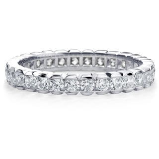Amore Platinum 1ct TDW Round Brilliant Diamond Eternity Band
