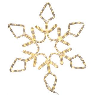 24-inch LED 130-light Pure White Diamond Snowflake