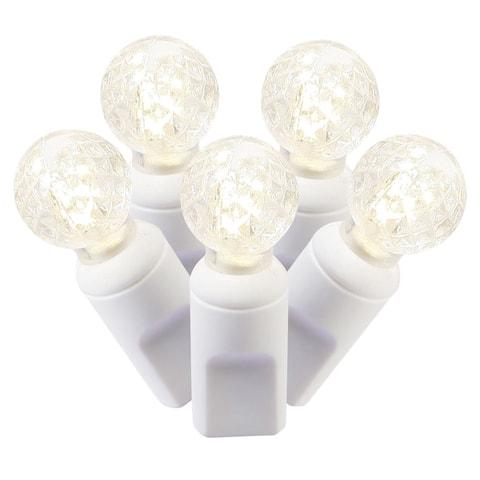 100-light LED Warm White/ White Wire G12 EC 4-inch x 34-foot