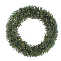 72-inch Douglas Wreath Dura-Lit with 200 Clear Lights, 1100 Tips