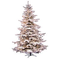 7.5-foot x 57-inch Flocked Sierra Dura-Lit Tree with 750 Clear Lights