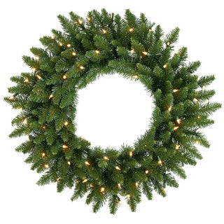 30-inch Camdon Fir Wreath Dura-Lit with 50 Clear Lights