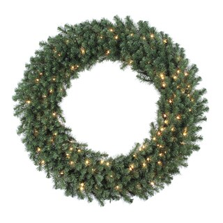 48-inch Douglas Wreath Dura-Lit with 200 Clear Lights