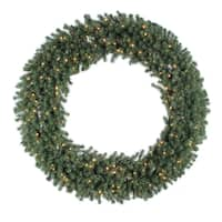60-inch Douglas Wreath Dura-Lit with 200 Clear Lights, 900 Tips