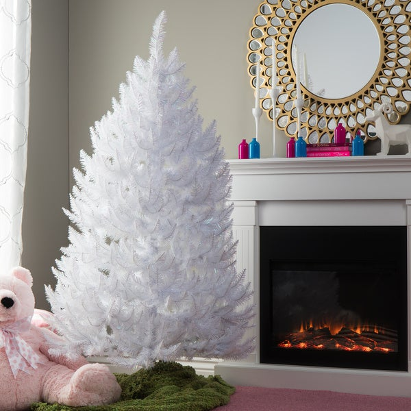 5 5 Sparkle White Artificial Spruce Christmas Tree Free