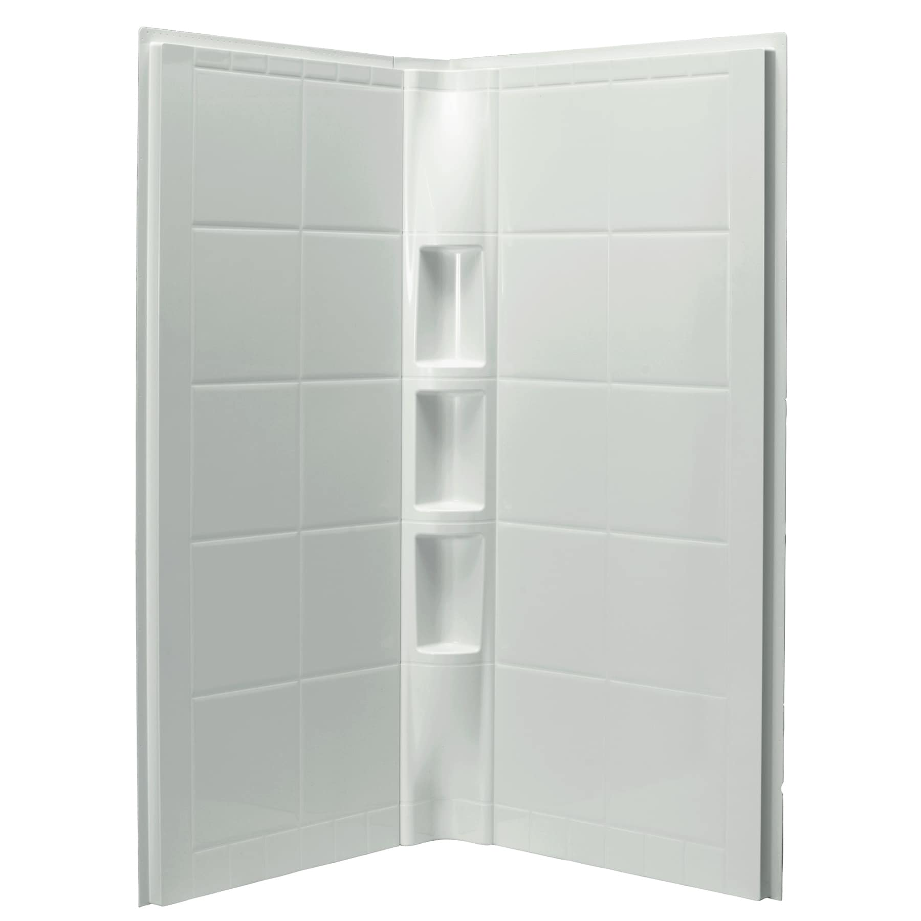 Sterling Intrigue 3-piece White Direct-to-Stud Shower Wal...