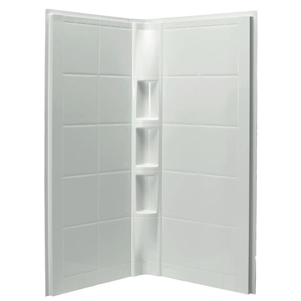Shop Sterling Intrigue 3-piece White Direct-to-Stud Shower Wall Set ...