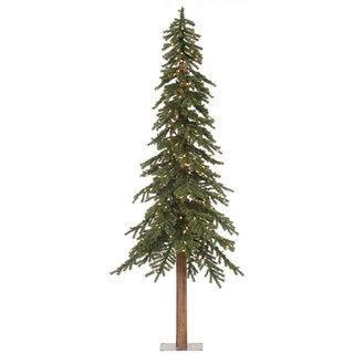 7-foot Natural Alpine Pre-lit Christmas Tree