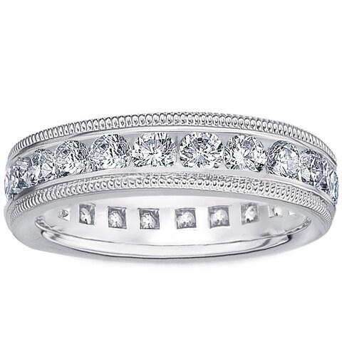 Amore Platinum 1ct TDW Diamond Wedding Band