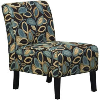 Hodedah Floral Armless Accent Chair