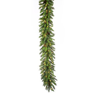 9-foot x 16-inch Cheyenne Garland Dura-Lit with 100 Clear Lights