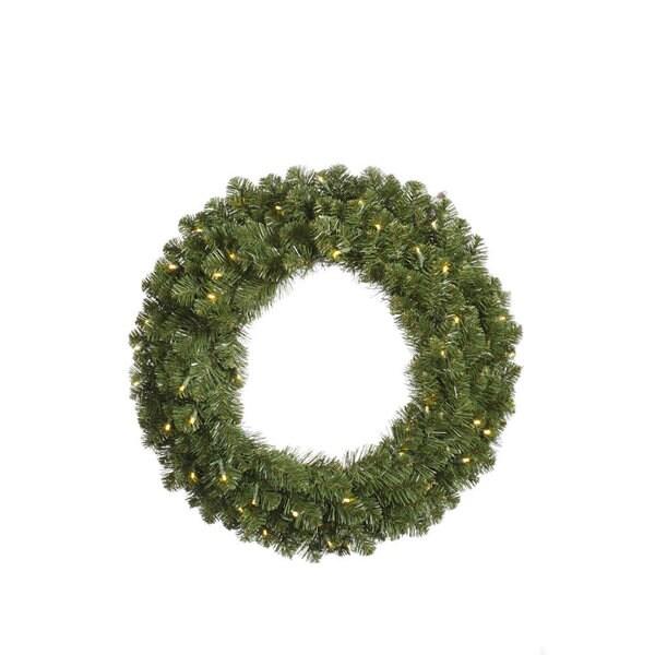 "30"" Pre-Lit Grand Teton Artificial Christmas Wreath - Warm Clear LED Lights"