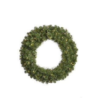 "30"" Pre-Lit Grand Teton Artificial Christmas Wreath - Warm Clear LED Lights"