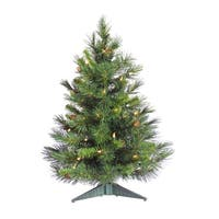 36-inch Cheyenne Pine Tree Dura-Lit Tree with 100 Clear Lights