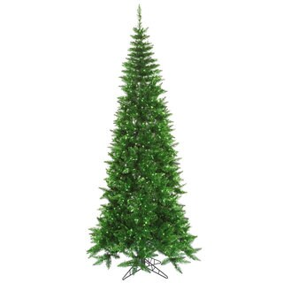 7.5-foot x 40-inch Tinsel Green Slim with 500 Green Lights, 1238 Tips
