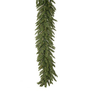 9-foot x 14-inch Camdon Garland Dura-Lit with 100 Clear Lights