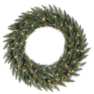 48-inch Camdon Fir Wreath with 200 Clear Dura-lit Lights