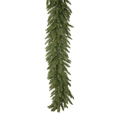 9-foot x 16-inch Camdon Garland Dura-Lit with 150 Clear Lights