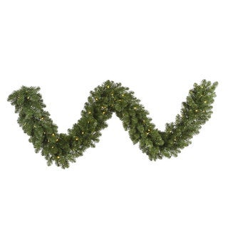 25-foot x 18-inch Grand Teton Garland with 300 Warm White LED Lights