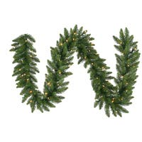 50-foot x 12-inch Camdon Garland with 400 LED Warm White Lights
