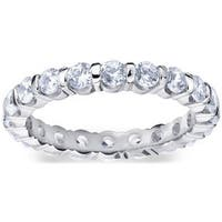 Amore Platinum 1 1/2ct TDW Bar Set Diamond Eternity Band