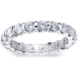 Amore Platinum 2ct TDW Bar Set Diamond Eternity Band