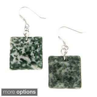 Pearlz Ocean Rain Forest Jasper Earrings